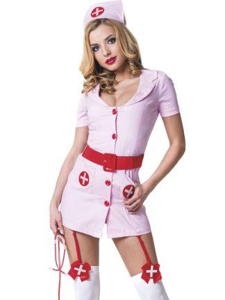 Костюм Похотливая медсестра розовая