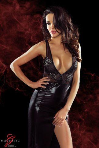 Длинное платье с глубоким декольте и вырезом на спине Jacqueline (Magnetic)