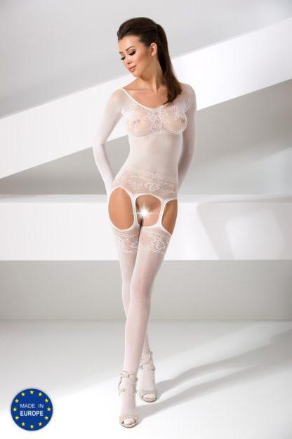 Комбинезон белый с длинными рукавами (Passion)