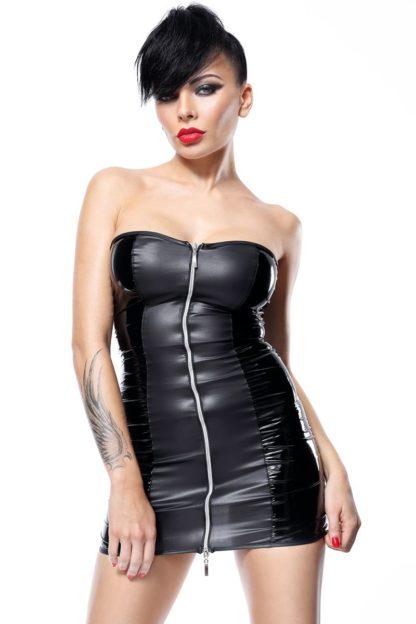 Кожаное платье на завязках  Greta (Hard Candy collection)