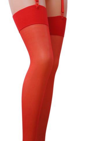 Чулки красные с подвесками, 17 DEN - Passion