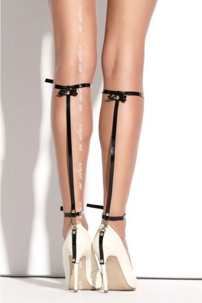 Украшение на ногу на ремешках SO 01 черное (Me Seduce)