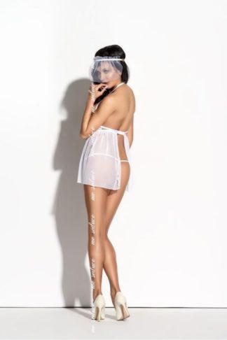 Сорочка с открытой грудью Elodia белая (Me Seduce)