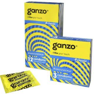 Презервативы GANZO CLASSIC (Классические, 3 шт. в упаковке)