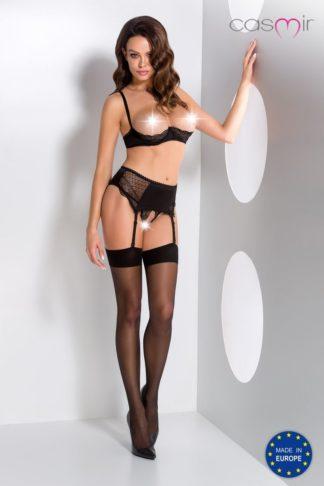 Комплект с открытой грудью Clarisse set with open bra black (Casmir)