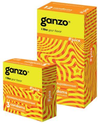 Презервативы GANZO JUICE (Ароматизированные, 12 шт. в упаковке)