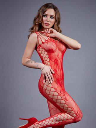 Боди-комбинезон красный с боковой полосой (Impulse)