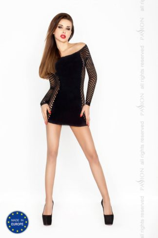 Платье с рукавом Кокетка черное (Passion)
