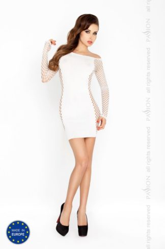 Платье с рукавом Кокетка белое (Passion)