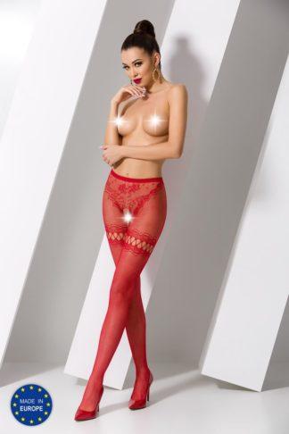 Колготки красные с разрезами и доступом (Passion)