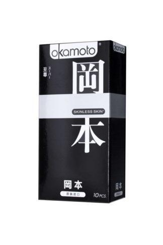 Презервативы OKAMOTO Skinless Skin Super (Супер, 10 шт. в упаковке)