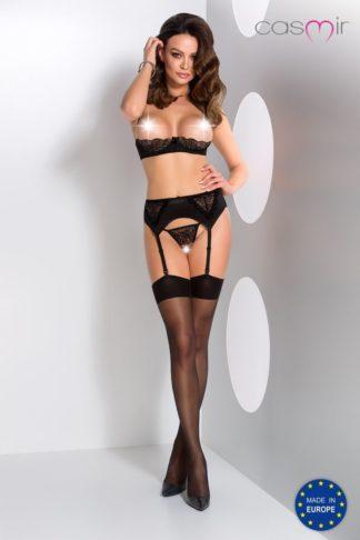 Комплект с открытой грудью Lauren set with open bra black (Casmir)