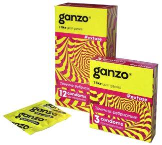 Презервативы GANZO EXTASE (Точечно-ребристые, 3 шт. в упаковке)