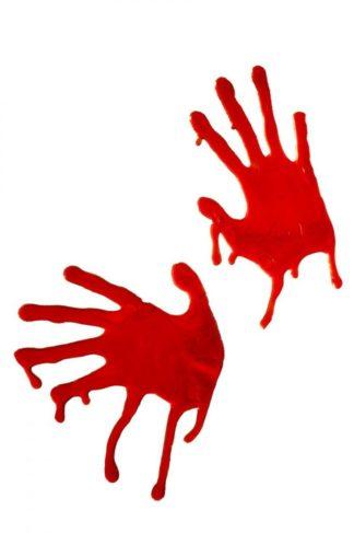 Кровавые красные руки, наклейки на окна (Fever)
